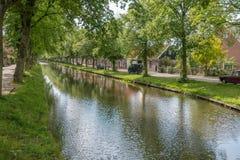 Rivier in Edam, Nederland royalty-vrije stock fotografie