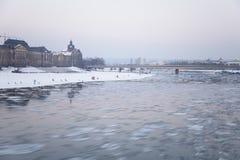 Rivier Elbe Royalty-vrije Stock Afbeeldingen