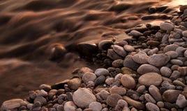 Rivier en rotsen Royalty-vrije Stock Foto