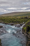 Rivier en waterval Stock Afbeeldingen
