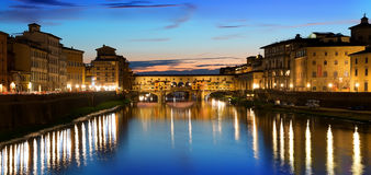 Rivier in Florence stock afbeelding