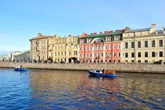 Rivier Fontanka, St. Petersburg stock afbeelding