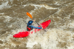 Rivier het kayaking Royalty-vrije Stock Fotografie