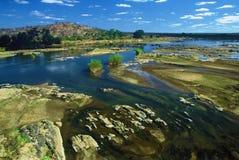 Rivier in het Nationale Park van Kruger, Zuid-Afrika Stock Foto's