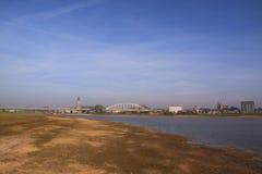 Rivier ijssel Nederlandse stad deventer Stock Foto