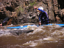 Rivier Kayaker 1 Stock Afbeelding