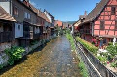 Rivier in Kaysersberg Royalty-vrije Stock Fotografie