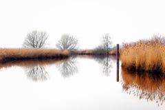 Rivier Leda dichtbij Potshausen Stock Afbeelding