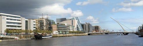 Rivier Liffy, Dublin, Ierland Stock Afbeeldingen