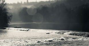 Rivier in Limousin royalty-vrije stock foto