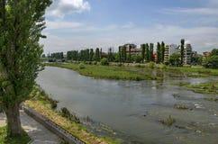 Rivier Maritsa in Plovdiv-stad Royalty-vrije Stock Afbeelding