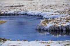 Rivier met sneeuw stock fotografie