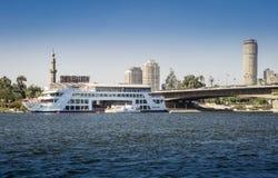 Rivier Nijl in Kaïro, Egypte Royalty-vrije Stock Afbeeldingen