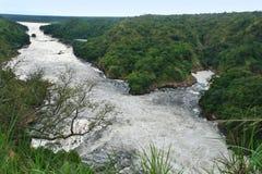Rivier Nijl rond Murchison-Dalingen royalty-vrije stock foto's