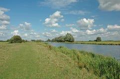 Rivier Ouse - Cambridgeshire Stock Foto's