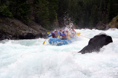 Rivier Rafting Stock Foto