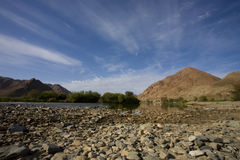 Rivier in Richtersveld, Zuid-Afrika. Stock Foto
