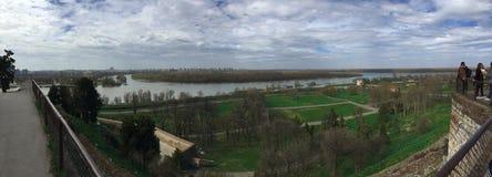 Rivier Sava en Donava Royalty-vrije Stock Foto's