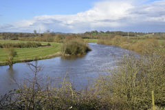 Rivier Severn in Wainlode stock afbeelding
