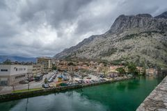 Rivier Shkurda in Kotor in Montyenegro stock foto