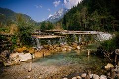 Rivier in Slovenië Royalty-vrije Stock Fotografie