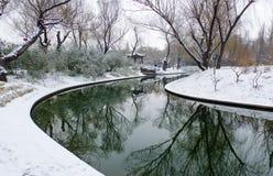Rivier in sneeuw Royalty-vrije Stock Afbeelding