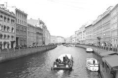 Rivier in St Petersburg Stock Afbeelding