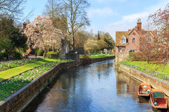 Rivier Stour in Canterbury Royalty-vrije Stock Afbeelding