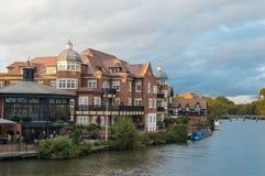 Rivier Theems in Eton, Berkshire Royalty-vrije Stock Fotografie
