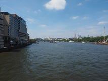 Rivier Theems in Londen stock foto