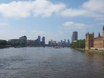 Rivier Theems in Londen royalty-vrije stock foto