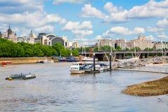 Rivier Theems Londen, Engeland Stock Afbeelding