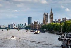Rivier Theems, Londen, het UK Stock Foto