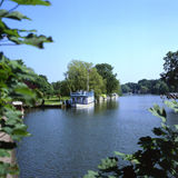 Rivier Theems in Streatley. Berkshire. Engeland Stock Fotografie