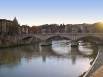 Rivier Tibur in Rome Italië Royalty-vrije Stock Foto's