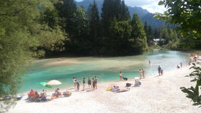 Rivier in Trentino - Italië Royalty-vrije Stock Foto
