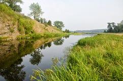 Rivier van het Noorden Ural Royalty-vrije Stock Afbeelding