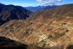 Rivier 72 van Tibet Nu draai Stock Fotografie