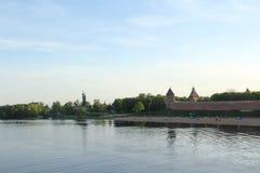 Rivier in Velikiy Novgorod royalty-vrije stock foto