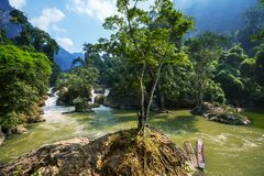 Rivier in Vietnam Stock Afbeelding