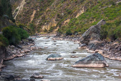 Rivier Vilcanota - de Treinrit aan Machu Picchu Royalty-vrije Stock Afbeeldingen
