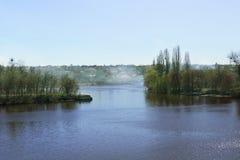 Rivier in Vinnitsa, de Oekraïne stock afbeeldingen