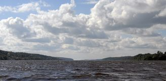 Rivier Volga, Rusland Stock Fotografie