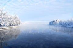 Rivier Vuoksi, Finland Stock Afbeeldingen