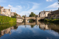 Rivier Welland in Stamford Stock Foto's