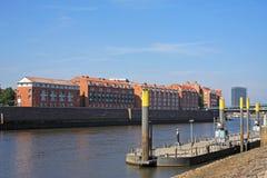 Rivier Weser, Bremen Stock Afbeelding