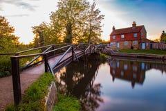 Rivier Wey Guildford Surrey Engeland stock foto
