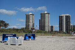 Luxury condominiums at Singer Island, Florida Stock Photos