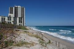 Luxury condominiums at Singer Island, Florida. RIVIERA BEACH, FLORIDA - MARCH 20, 2018: Luxury condominiums at Singer Island, Fl. Singer Island an oceanfront Royalty Free Stock Photography