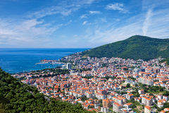 Riviera Budva στην αδριατική παραλία, Μαυροβούνιο Στοκ Εικόνα